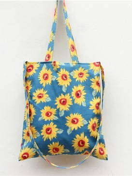 Delicate Sunflower Pattern Cloth Bag
