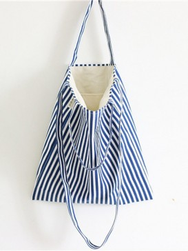 Fashionable Naval Stripe Design Cloth Bag