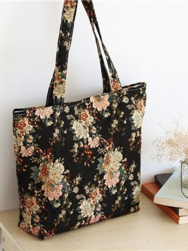 Classical Peony Design Cloth Bag