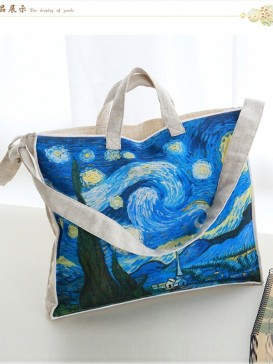 Blue Sky Painting Style Cloth Bag