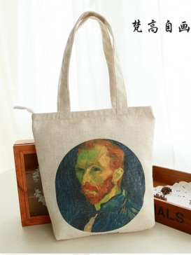 Van Gogh Self-Portrait Style Cloth Bag