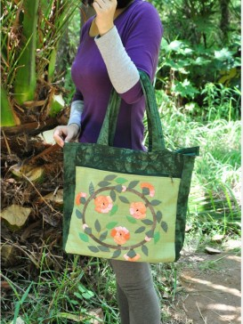 Delicate Embroidery Floral Cloth Bag
