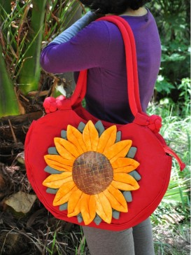 Fashionable Sunflower Design Cloth Bag