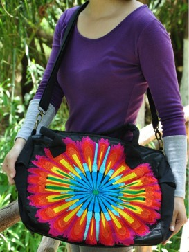 Colourful Floral Pattern Cloth Bag
