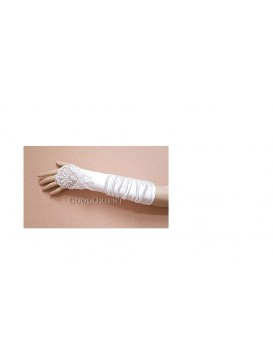 Fingerless ivory Bridal Wedding Pearls Gloves