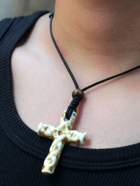 Chinese Style Porcelain Necklace Series--Cross