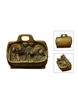 Natural Wooden Animal Decoration---Two Mice