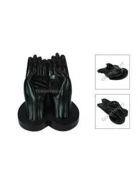 Hands of Buddha Rosewood  Business Card Holder