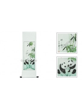 Traditional Chinese Hand Water-color Painting Scroll---Pandas