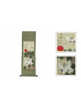 Traditional Chinese Hand Water-color Painting Scroll---Crane and Pine Tree