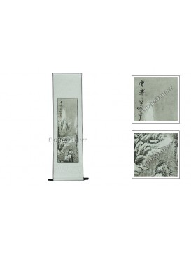 Traditional Chinese Hand Water-color Painting Scroll---Snow Scenery