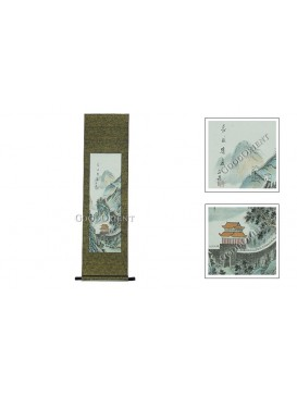 Traditional Chinese Hand Water-color Painting Scroll---the Great Wall
