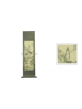 Traditional Chinese Hand Water-color Painting Scroll---Journey in Snow Mountain