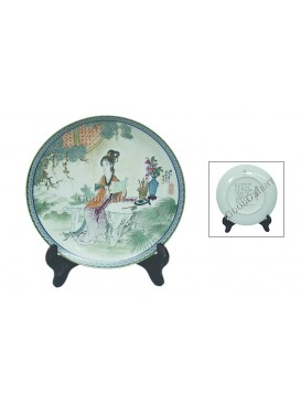 A Dream of Red Mansion Series Porcelain Decorative Plate---Jia Tanchun