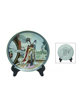A Dream of Red Mansion Series Porcelain Decorative Plate---Li Wan
