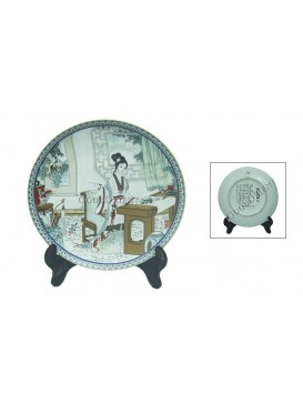 A Dream of Red Mansion Series Porcelain Decorative Plate---Jia Xichun