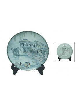 The Summer Palace Porcelain Decorative Plate---the Marble Boat