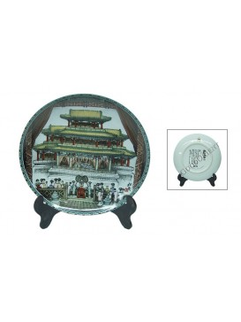 The Summer Palace Porcelain Decorative Plate---the Drama Stage