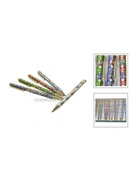Chinese Peking Opera Mask Cloisonne Ball Pen