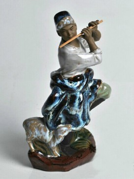 Chinese  Porcelain Figure Decoration--Shepherd