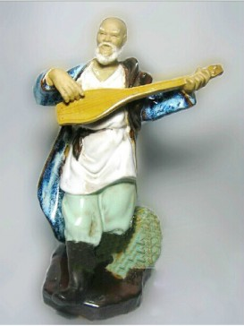 Chinese  Porcelain Figure Decoration--Music Teacher