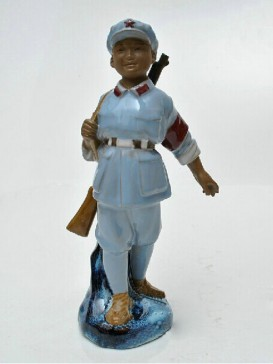 Chinese Porcelain Figure Decoration--The Red Army