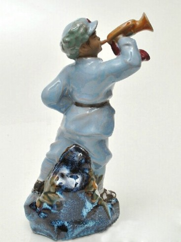 Chinese Porcelain Figure Decoration--Trumpeter