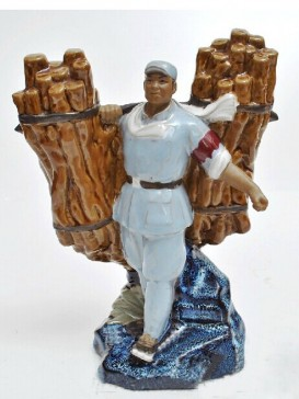 Chinese  Porcelain Figure Decoration--Mine Warfare