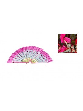 Chinese Dancing Peacock Fan Set---Pink
