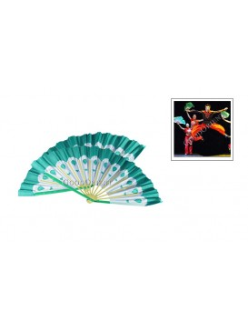 Chinese Dancing Peacock Fan Set---Green