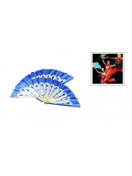 Chinese Dancing Peacock Fan Set---Blue