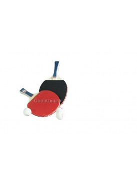 Red Double Happiness Pingpong Rackets Set