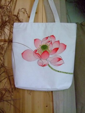 Ethnic Hand Painting Design Bag--Lotus