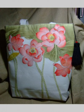 Attractive Hand Painting Style Bag--Lotus