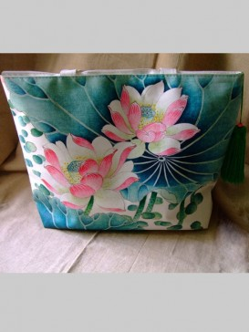 Leisure Hand Painting Style Bag--Lotus