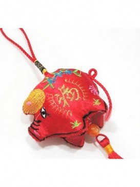 luck Piggy Hanging Decoration---Red