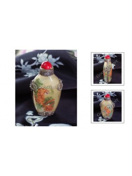 Tibetan-Style Tiger Snuff Bottle With Inside Painting