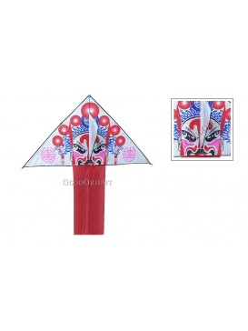 Chinese Triangle Peking Opera Mask Kite