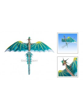 Chinese Teal Dinosaur Kite