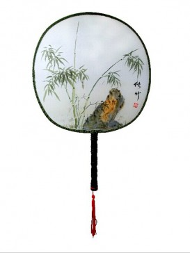 Chinese Hand-Painted Fan--Bamboo