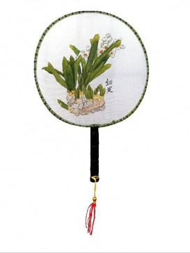 Chinese Hand-Painted Fan--Flower