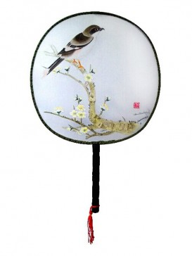 Attractive Chinese Hand-Painted Fan--Bird