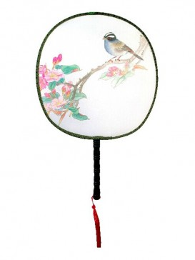 Attractive Chinese Hand-Painted Fan--Bird&Flower