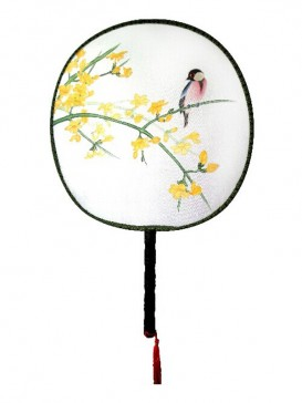 Delicate Chinese Hand-Painted Fan--Bird&Flower