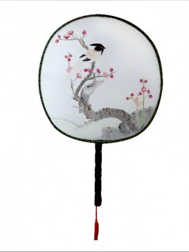 Exquisite Chinese Hand-Painted Fan--Bird&Flower
