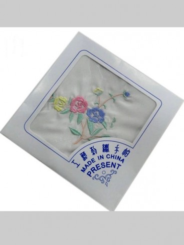 Chinese Embroidery Handkerchief Series--Colorful Flower