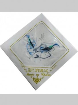 Delicate Embroidery Handkerchief Series--Shrimp