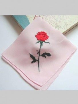 Exquisite Embroidery Handkerchief Series--Rose