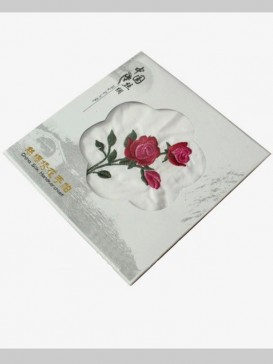 Chinese Embroidery Peony Handkerchief
