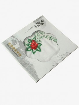 Delicate Embroidery Flower Handkerchief